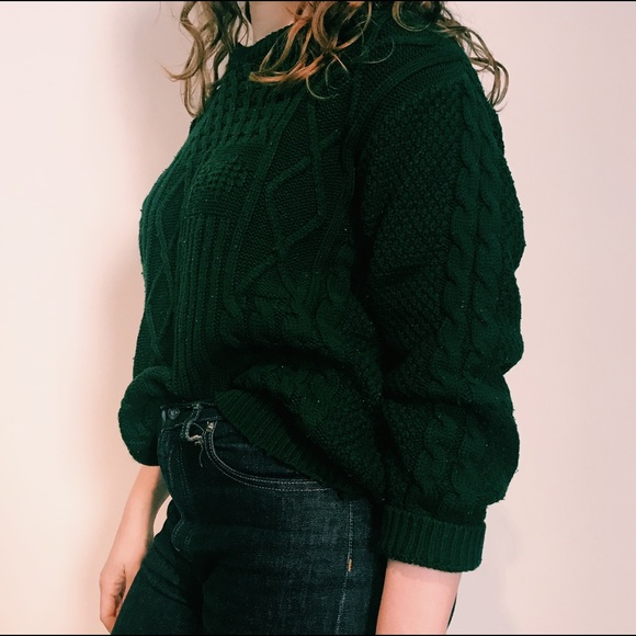 Urban Outfitters Sweaters Green Cable Knit Sweater Poshmark